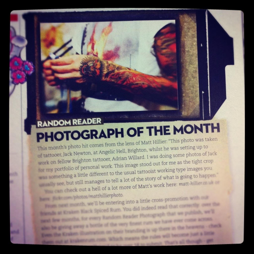 Skin deep magazine photo of the month.